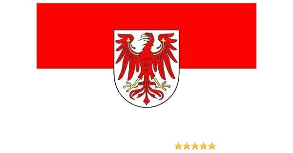 Fahne Flagge mit Ösen Bundesland Brandenburg 90 x 150 cm Ostdeutschland Osten
