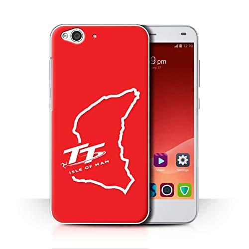 Isle of Man TT Officiel Coque/Etui pour ZTE Blade S6 / TT Circuit Rouge Design/TT Logo Collection