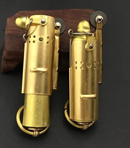 Stahl Kupfer Kreatives Vintage Kerosin Antik Flint Gold Weltkrieg II Feuerzeug