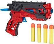 Amazon Brand - Jam & Honey Battle Blaster Toy Guns, Red, with Soft Foam Bul