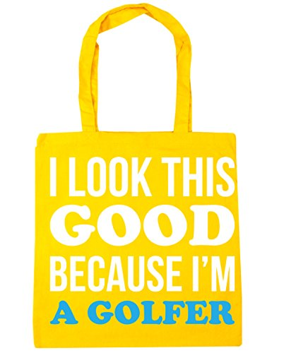 18th Tee (HippoWarehouse ,  Damen Strandtasche Gr. One Size, gelb)