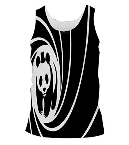 Snoogg-Panda-Circle-2520-Mens-Casual-Beach-Fitness-Vests-Tank-Tops-Sleeveless-T-shirts