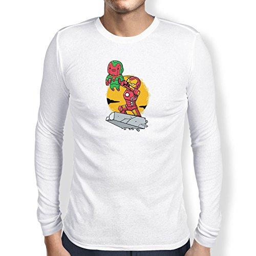 Texlab - Artificial Superhero - Herren Langarm T-Shirt, Größe XXL, Weiß