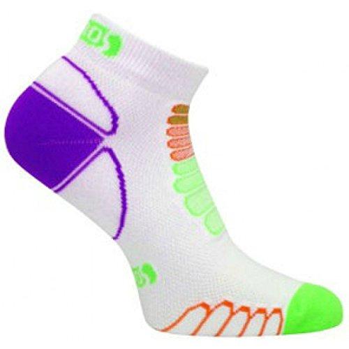eurosocks 6709Sprint silber Low Cut Leichtes Running socks-pair, damen Mädchen Herren Jungen, weiß / schwarz, L (Sport Sock Low Mädchen Cut)