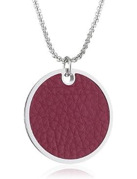 Esprit Damen-Halskette Edelstahl Persephone rosa Länge ca. 85+3cm ELNL12466B850