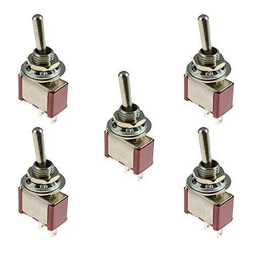 TOOGOO 5 X ?ffnen/Schlie?en Kleiner Kippschalter Miniatur Spst 6Mm - Ac250V 3A 120V 5A -