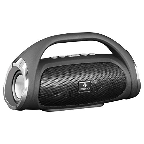 Zebronics Zeb-Splash Portable BT Speaker with mSD, USB. AUX, FM, Mic, Dual Drivers & Passive Drivers for Enhanced bass