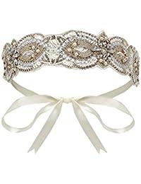 Claire Flapper Headband in Cream