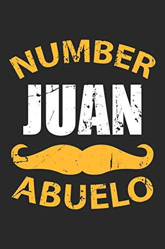 Number Juan Abuelo: Spanischer Schnurrbart Bartträger  Notizbuch liniert DIN A5 - 120 Seiten für Notizen, Zeichnungen, Formeln | Organizer Schreibheft Planer Tagebuch