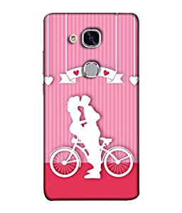 Huawei Honor 5c, Huawei Honor 7 Lite, Huawei Honor 5c GT3 Back Cover Lovely Couple Hugging And Kissing Design From FUSON