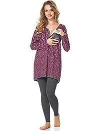 Bellivalini Premamá Pijama Conjunto Camiseta y Leggins Lactancia Maternidad Mujer BLV50-125