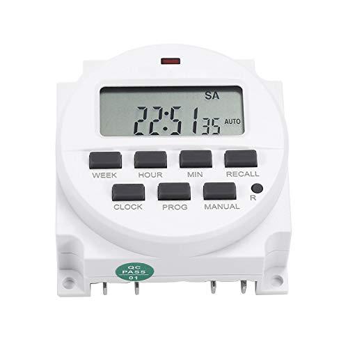 WARMTOWE LCD Power TM618 Programmierbare Zeitrelais-Schalter Digital-Timer-Schalter AC 220V / 12V / 110V / 24V -