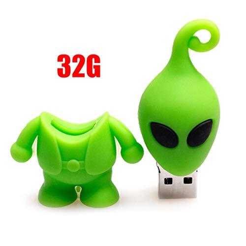 Kongqiabona Large Capacity Cartoon Alien USB Flash Drives Creative Memory Stick