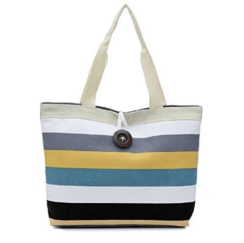 Borsa Familizo Elegant Lady Fashion Shopping Handbag Canvas Shoulder Tote Bag borsa Messenger (Cachi)
