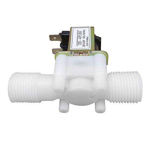 SODIAL 12V 1 / 2inch N / C Kunststoff Elektrisches Magnetventil Magnetische Wasser Luft Normalerweise Geschlossen