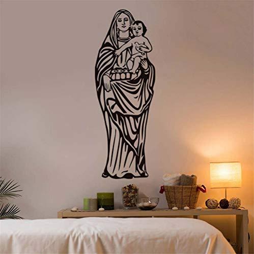 (Zyzdsd Unsere Dame Von Guadalupe Jungfrau Maria Katholischen Wandaufkleber Wohnkultur Wandbild Kunst Abnehmbare Vinyl Dekoration 43 * 122 Cm)
