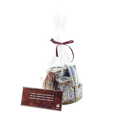 Aromas de Té - Paquet premier baiser avec différents types de thé (vert et blanc Sorbet à la mangue, baies Pu Erh, Oolong Rooibos Lemon Lime et Alhambra) + Tisanera/Coupe avec filtre + 2 boîtes Owl