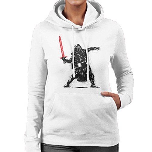 Star Wars Saber Thrower Women's Hooded Sweatshirt White