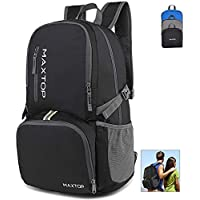 maxtop 30L Ultra Lightweight Packable Backpack Foldable Rucksack Water Resistent For Men Women Kids Outdoor Camping Hiking Travel Daypack Handy Durable …