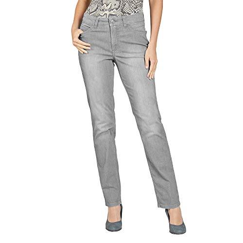 Mac 0392L 5040 90 Melanie Light Denim Damen Jeans in Five-Pocket-Form Stretch, Groesse 46/30, hellgrau Denim