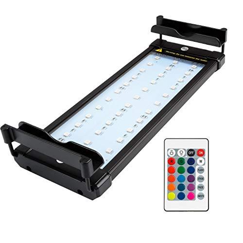 NICREW Aquarium Beleuchtung RGB, LED Aquarienbeleuchtung Aquarium, LED Licht für Süßwasser-Aquarien, 30-48 cm, 6 Watt - 48 Led-aquarium-lichter