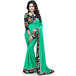 Fabulous Trendz New Green Color Georgette Fabric Anarkali saree