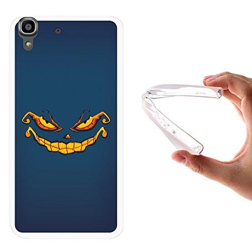 70 Hülle, Handyhülle Silikon für [ Orange Dive 70 ] Halloween Monster Handytasche Handy Cover Case Schutzhülle Flexible TPU - Transparent ()