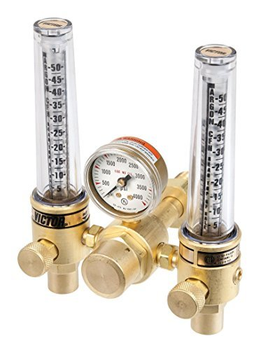 ESAB Victor Technologies 0781 – 1153 dfm-150 – 580 Medium Duty Flow Meter  Cylinder Argon/Helium Regulator, 5 – 50/20 – 150 scfh Flow Range, CGA 580