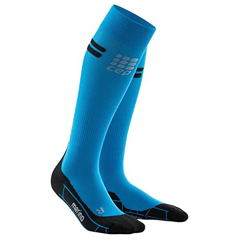 CEP Damen Progressive+ Run Merino Socks WP40 Electric Blue/Black 25-31cm