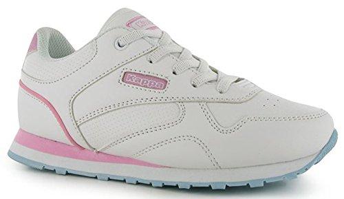 Kappa , Baskets mode pour garçon blanc/rose