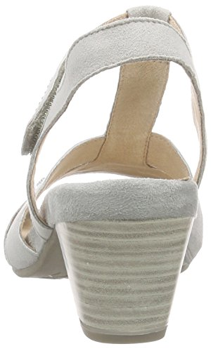 Caprice - 28304, Scarpe col tacco con cinturino a T Donna Grigio (Grau (GREY SUEDE 201))