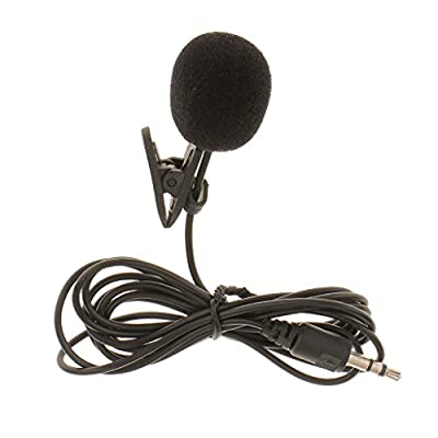 Baoblaze 3.5mm Hands Free Clip On Mini Lapel Mic Microphone For PC Notebook Laptop