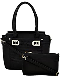 Mark & Keith Women BLACK Handbag(MBG 0516 BLACK)