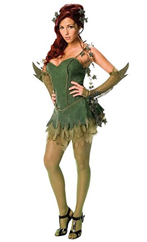 Aus Kostüm Ivy Batman Poison - Rubie's Offizielles Damen-Kostüm Poison Ivy Batman-Kleid, Erwachsenen-Kostüm, Größe M (36-40)