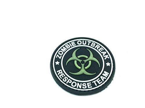 Toppa in PVC con strappo di velcro Zombie Outbreak response Team Biohazard per Softair