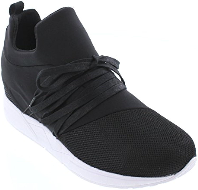 CALTO H71983 inches Taller  Höhe Zunehmende Aufzug Schuhe  Deep Blue Slipon Fashion Sneakers