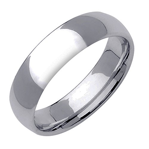 Gemini Dome Comfort Fit Silver Color Solid Titanium Couple Anniversary Wedding Ring Valentine's Day Gift for Men