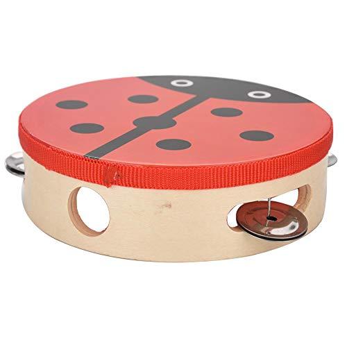 RiToEasysports Tamburin Holz, Tamburine für Kinder, 15cm Holz Tamburin Handtrommel Glocke Musik Percussion Instrument Spielzeug Geschenk (1#)