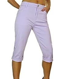 ICE (1442) Pantacourt ¾ Extensible en Jeans pour Grandes Tailles