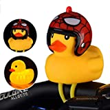 ROMORR Duck Bicycle Bells Lovely Yellow Helmet Duck Bicycle Handlebar Bell Light Horn Lamp Safety Warning Lights Bike Accessories