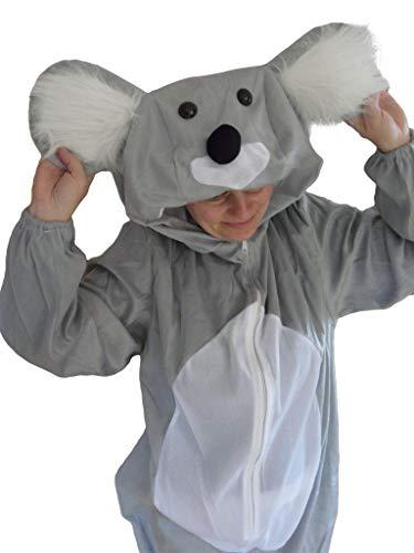Kostüm Koala Bär - Koala-Bär Kostüm, J42/00, Gr. M-L, Fasnachts-Kostüme Tier-Kostüme, Koala-Kostüme Koala-Bären für Fasching Karneval Fasnacht, Geschenk für Erwachsene