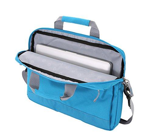 Best swiss gear backpack in India 2020 Swiss Gear Cross Body Laptop Sleeve Carrying Case, Blue Image 4