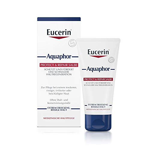 Eucerin Aquaphor Protect & Repair Salbe, 45 ml Fettsalbe - Trockene Haut Salbe
