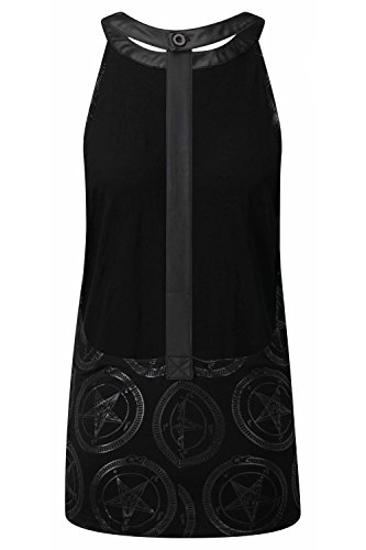 Killstar Top BAPHOMET SPINE VEST Black