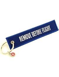 REMOVE BEFORE FLIGHT Schlüsselanhänger (Blau)