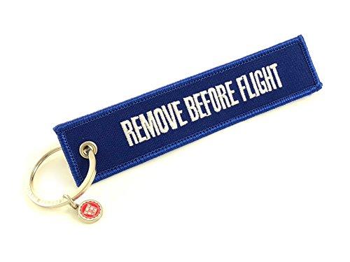 REMOVE BEFORE FLIGHT Schlüsselanhänger (Blau) (Flug-blau Sie Vor Entfernen)