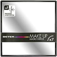 Beter 14312 - Espejo orientable con ventosa, aumento 7x, 15 cm