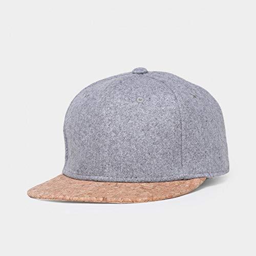 SADUZI Baseballmütze Kork Mode Einfache Männer Frauen Hut Hüte Baseball Cap Snapback Einfache Klassische Kappen, Grau