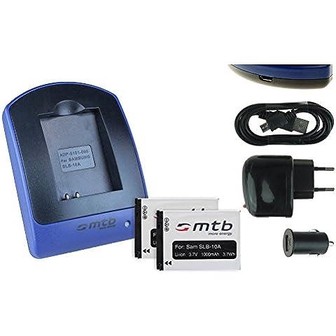 2 Baterìas + Cargador (USB/Coche/Corriente) para JVC Adixxion / Toshiba X-Sports / Silvercrest / Medion Action Cams ..ver