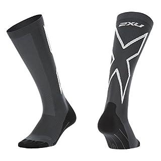 2x u Damen Kompression Performance X Socken, Damen, Titanium/White